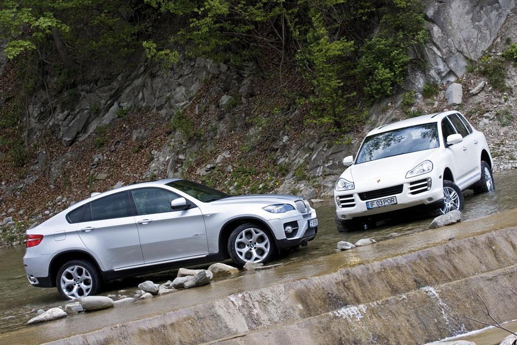 Bmw X6 Xdrive 35d Vs Porsche Cayenne Diesel Zeii Coboara