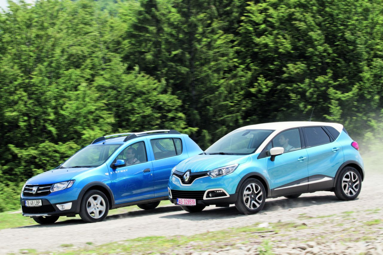 test comparativ renault captur vs dacia sandero stepway headline test comparativ teste. Black Bedroom Furniture Sets. Home Design Ideas