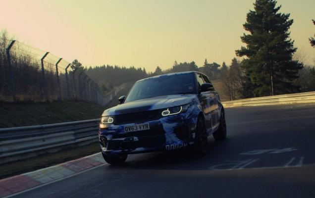 range rover sport nurburgring
