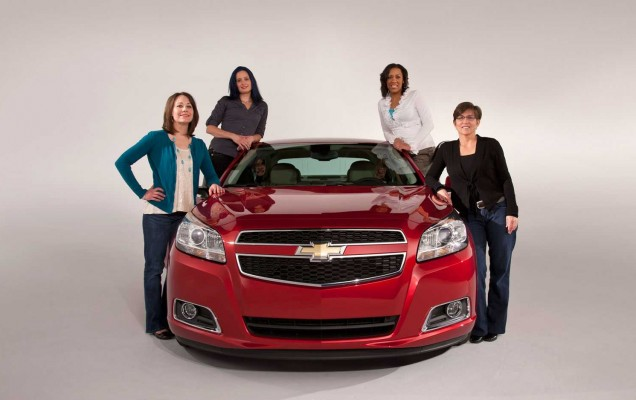 2013-Chevrolet-Malibu-front-view-with-female-engineers