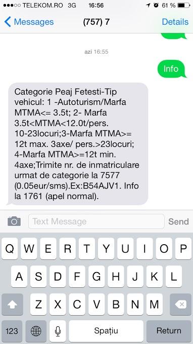Cum plătești prin sms taxa de pod Fetești – Cernavodă