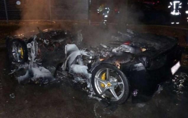 incendiu ferrari 458 italia