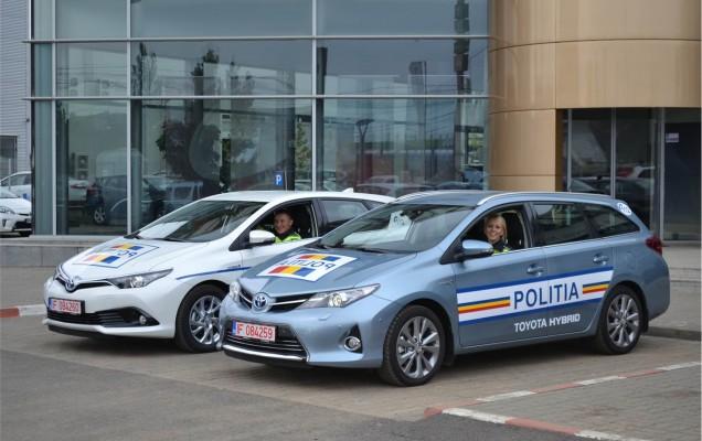 Toyota Auris Hybrid politia romana