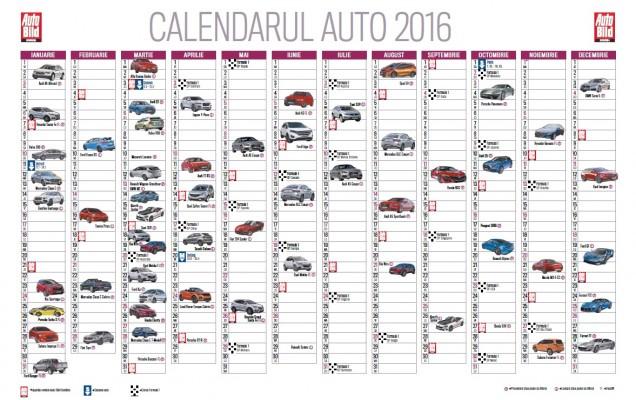 calendarul noutatilor auto
