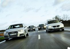 Audi A4, BMW 318i, Mercedes C180, VW Passat