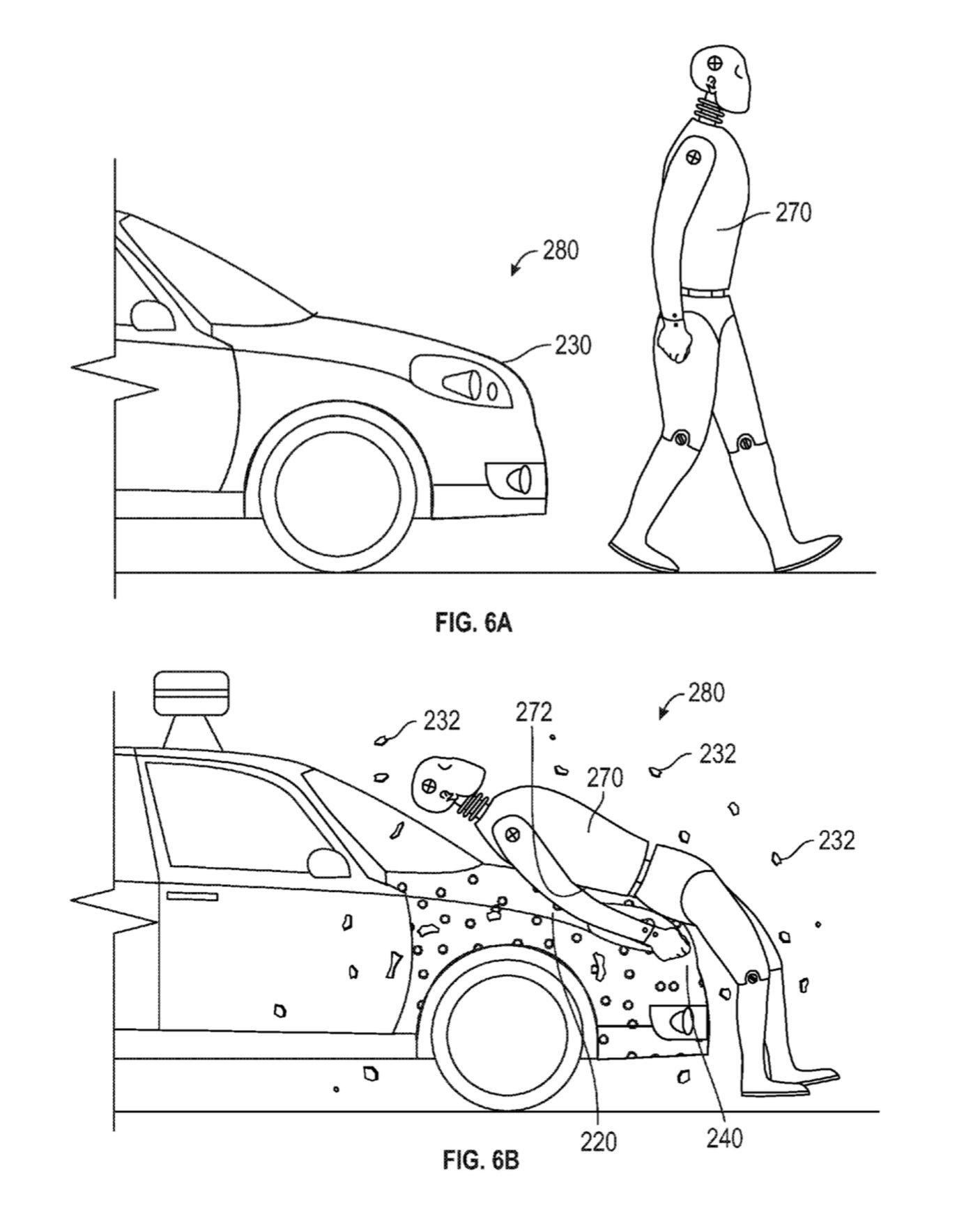 patent google protectia pietonilor