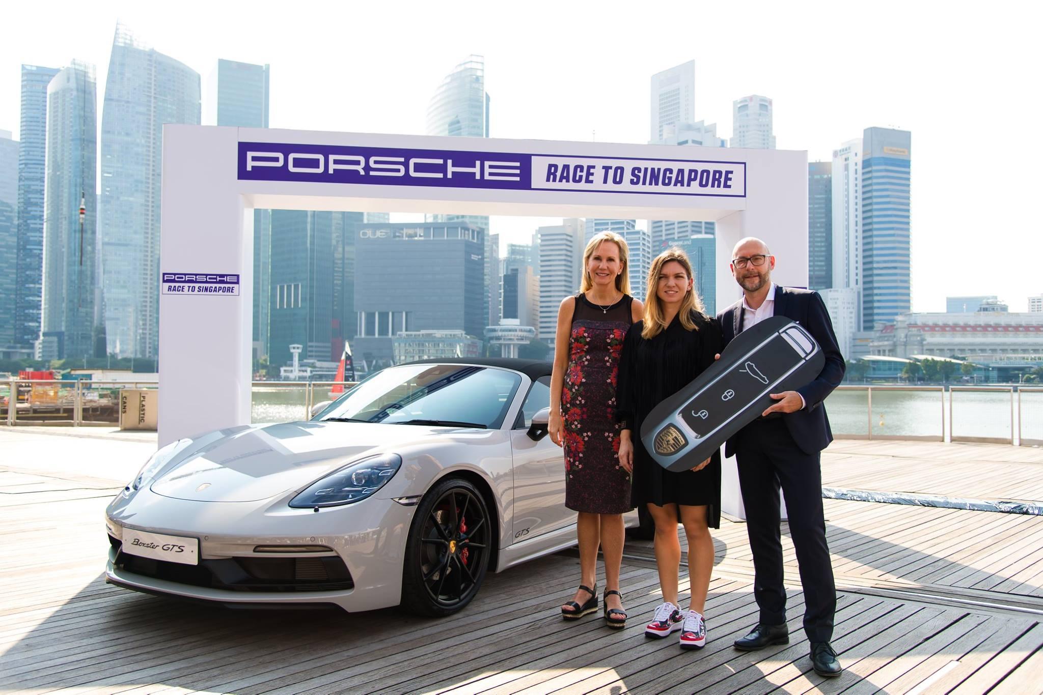 Simona Halep a primit cadou un Porsche