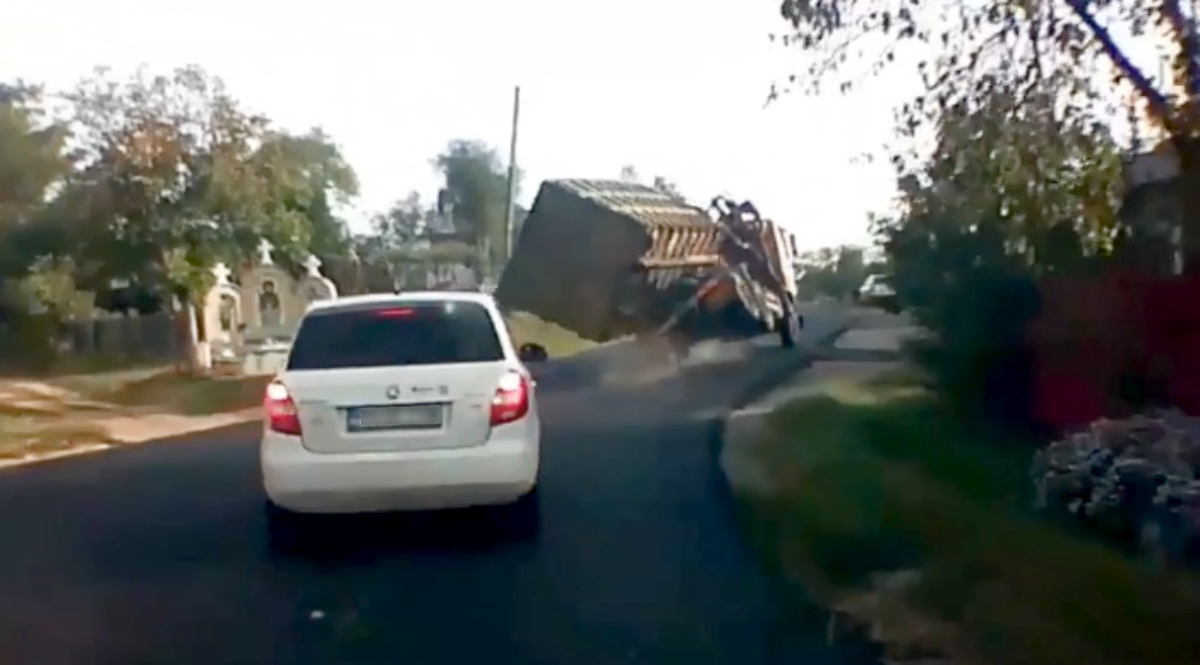 șoferul camionului pierde în greutate