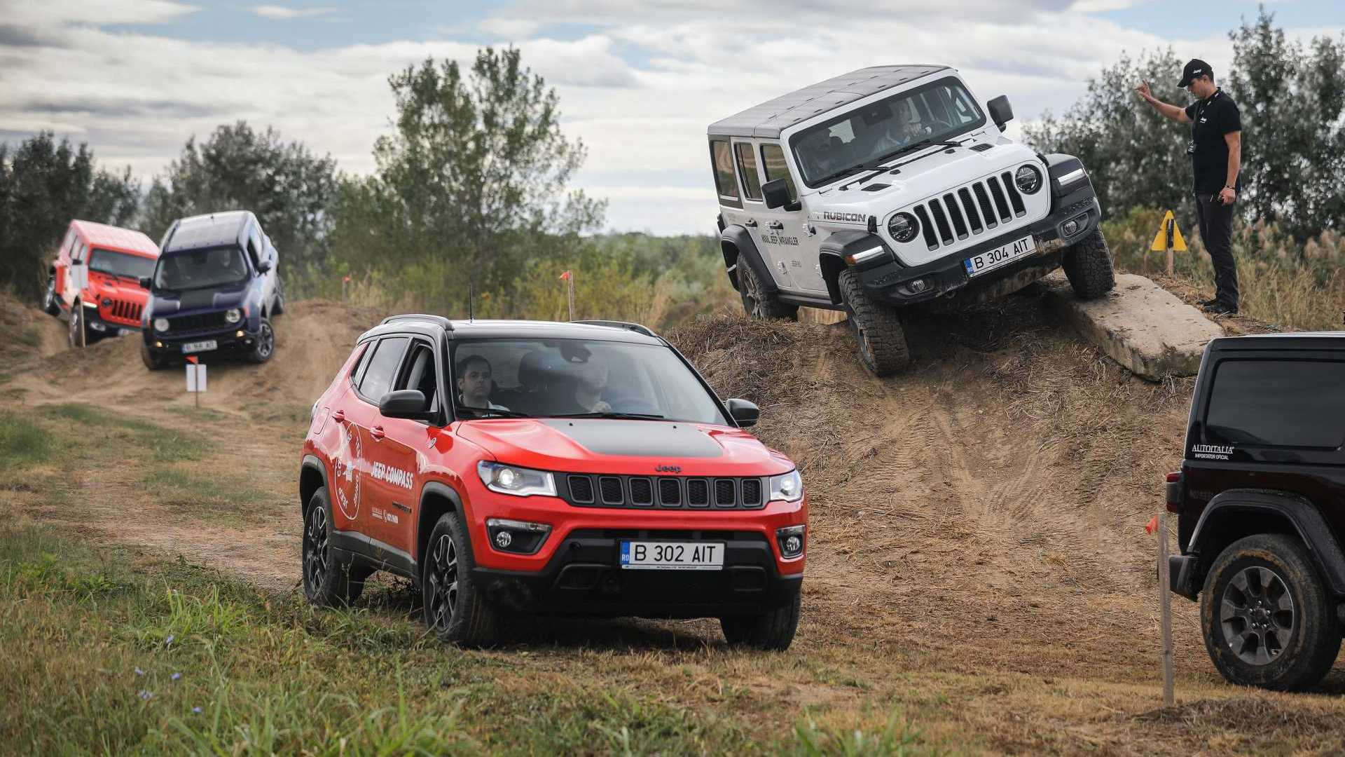 Jeep Adventure Day: demonstrație off-road pe circuitul TCS Racing Park
