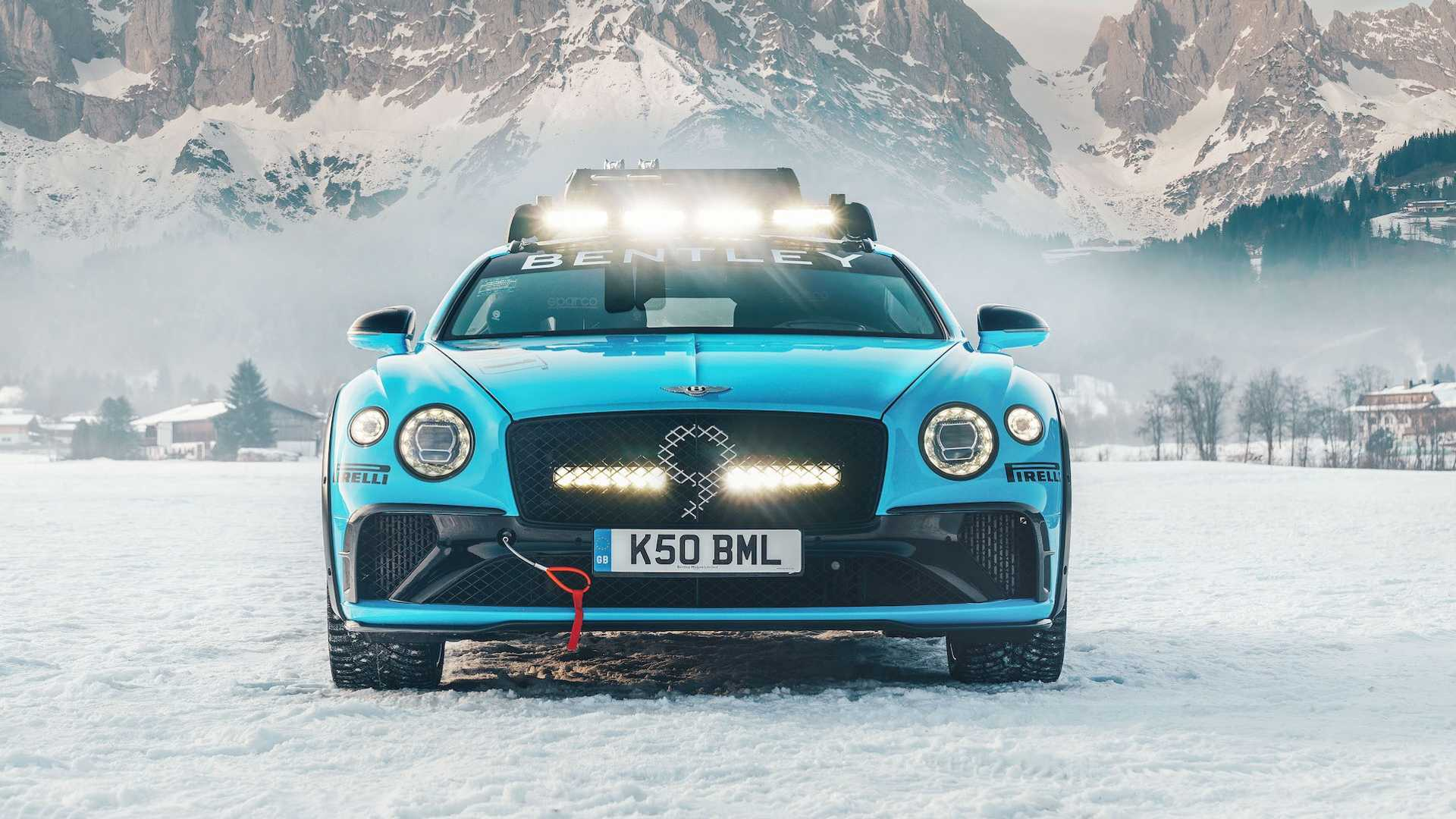 bentley continental gt curse ice race