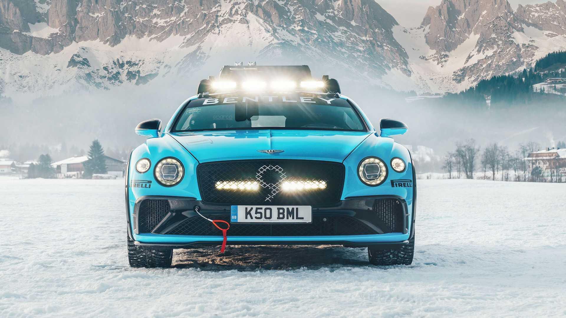 bentley continental gt curse ice race