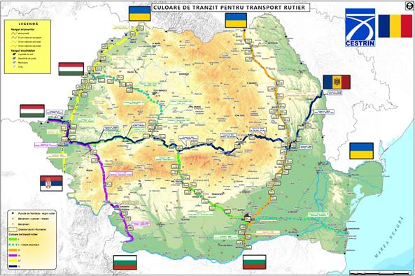 România a stabilit cinci culoare rutiere de tranzit pentru transportul de marfă. Iată harta